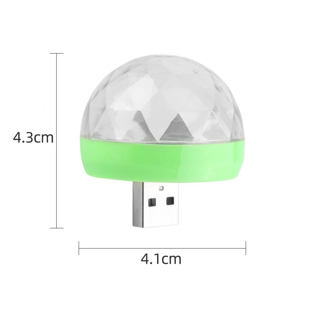 Image 5 - Aimkeeg RGB Mini USB LED Party Lights Portable Sound Control Magic Ball 3W Mini Colorful DJ Magic Disco Stage Lights for Mobile-in Stage Lighting Effect from Lights & Lighting on