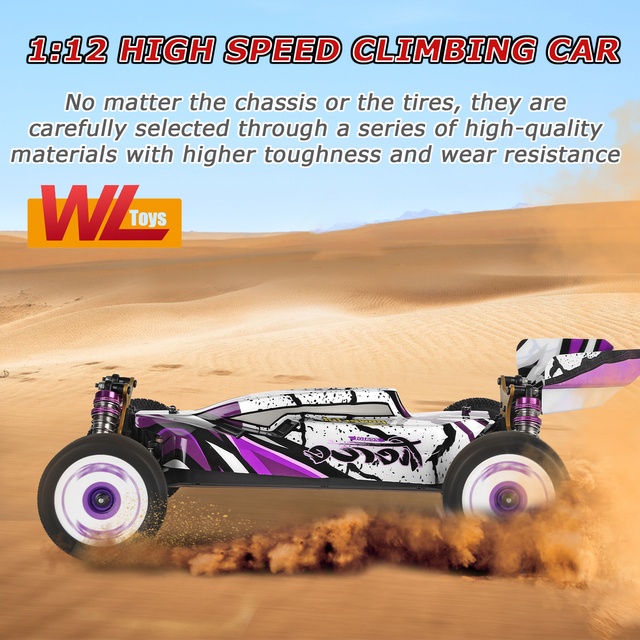 Wltoys 124019 High Speed Racing Car 60km/h 1/12 2.4GHz RC Car Off-Road Drift Car RTR 4WD Aluminum Alloy Chassis Zinc Alloy Gear 6