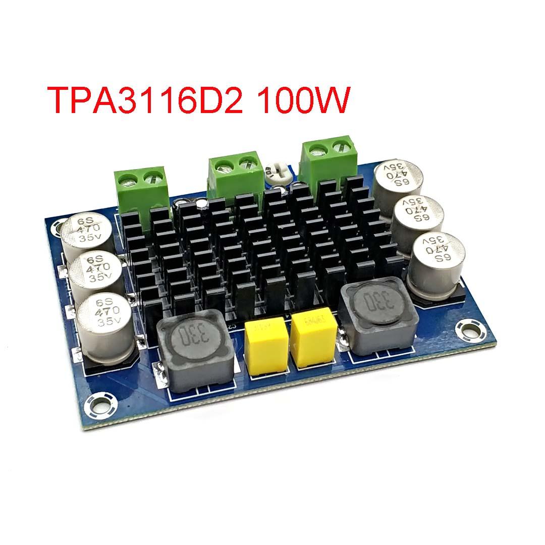 Моноканальный цифровой усилитель мощности, 12-26 В постоянного тока, 100 Вт, TPA3116DA, плата TPA3116D2