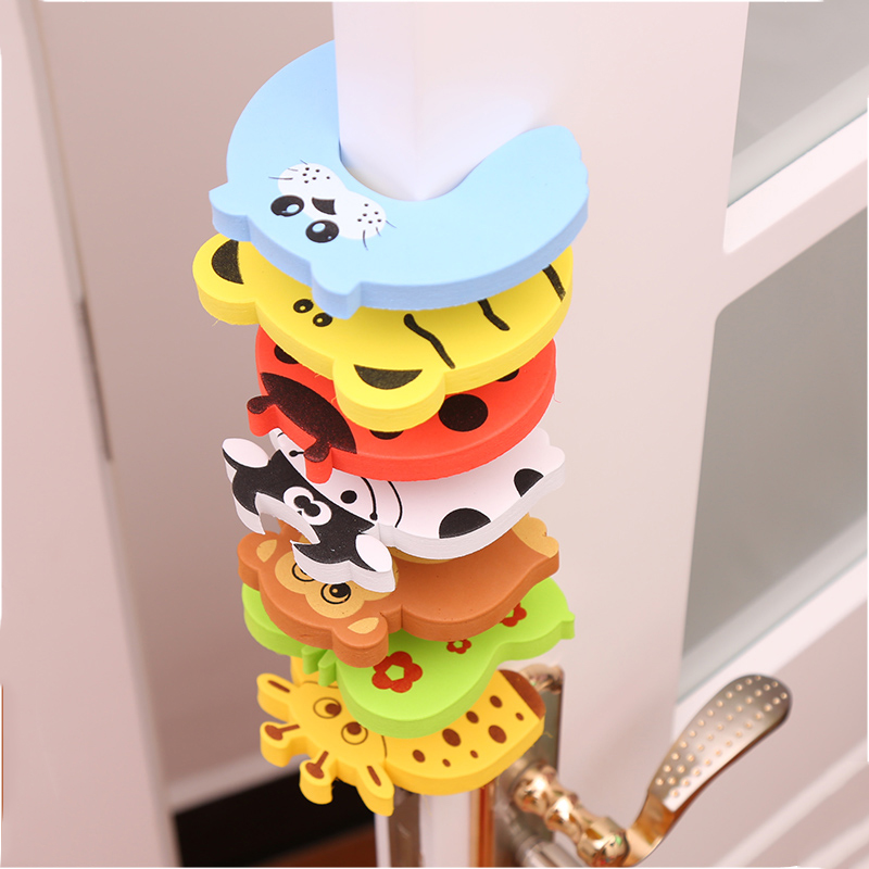 5pcs/Set Door Stopper Doorknob Wall Protection Children Door Stopper Holder Shockproof Door Crash Pad Children Finger Protecter