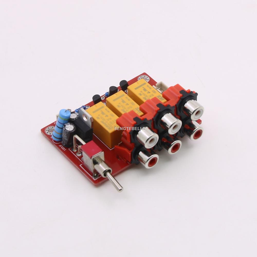 Audio BOARD Switch Plates RCA To RH2.54 Audio Input Signal Selector Relay Board