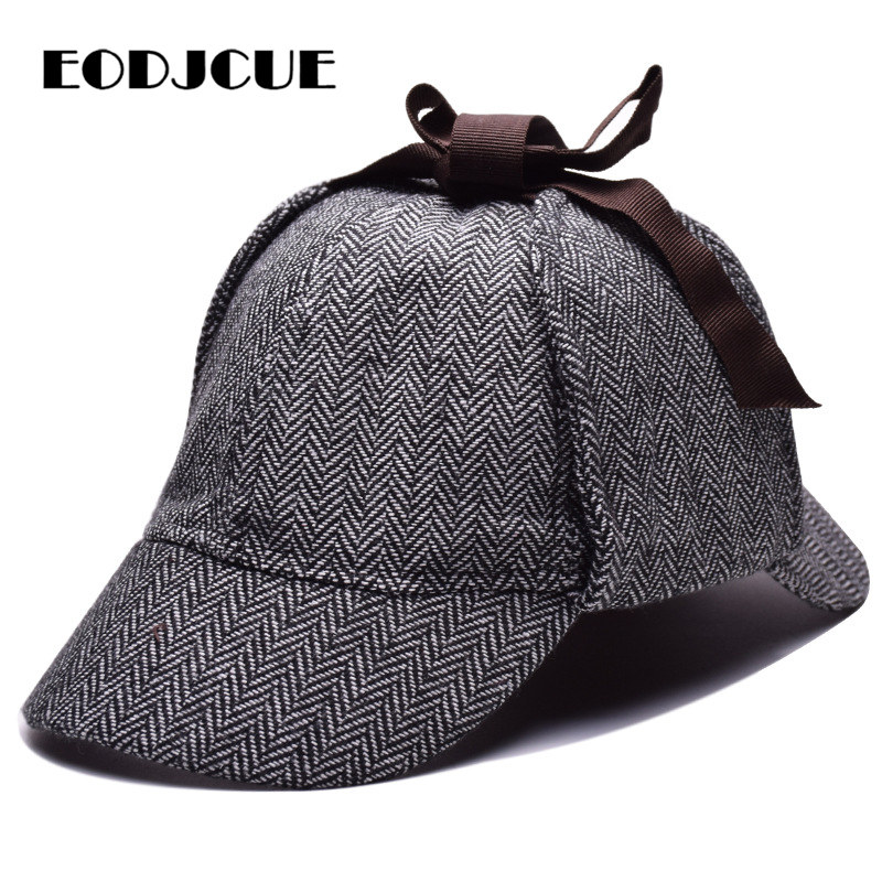Sherlock Holmes Detective Beret Hat Unisex Cosplay Accessories Berets Men Women Two Brims Hat Peaky Blinder Casquette