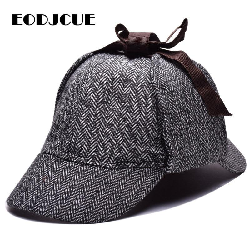 Sherlock Holmes Detective Beret Hat Unisex Cosplay Accessories Berets Men Women Two Brims Hat Peaky Blinder Casquette