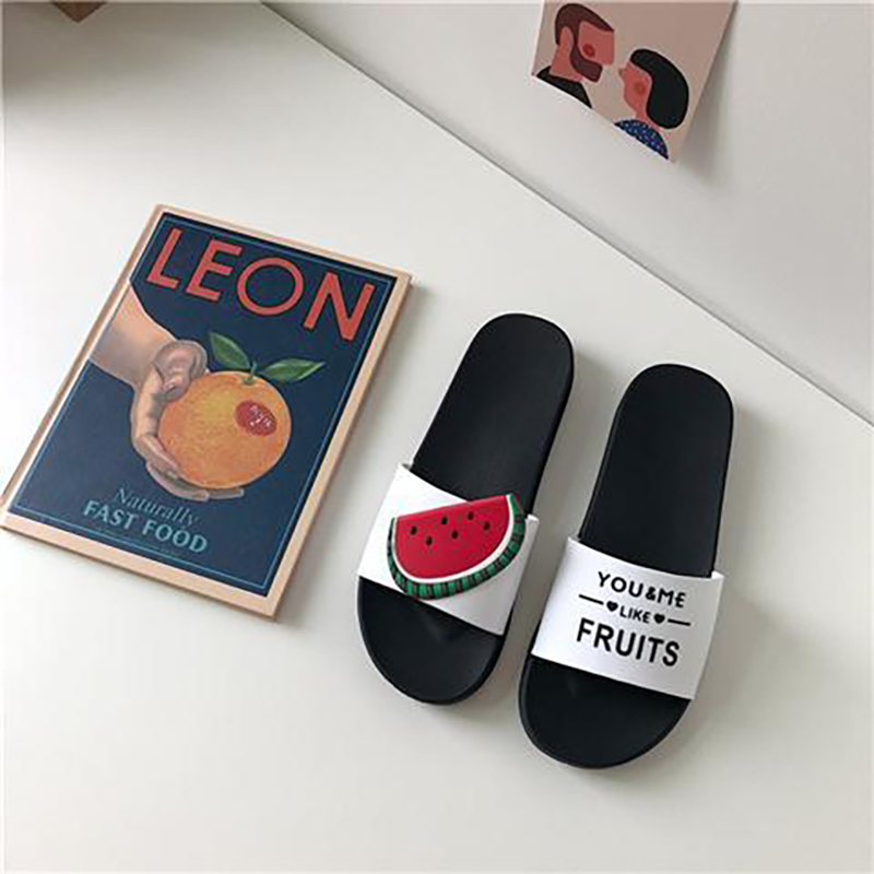 Cartoon Fruit Women Home Slippers Summer Sandals Ladies Slides Indoor House Shoes Flip Flops Sandalias Zapatillas De Hombre