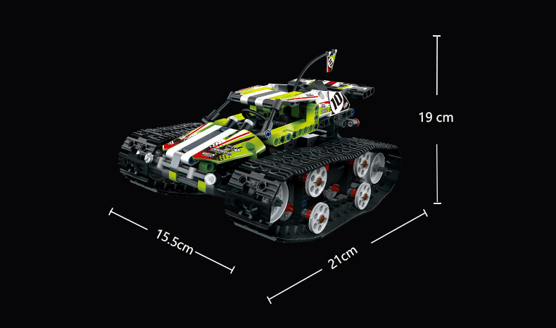 MOULD KING Crawler RC Tracked Racer Compatible 42065 MOC 13023 13024 Building Block 16