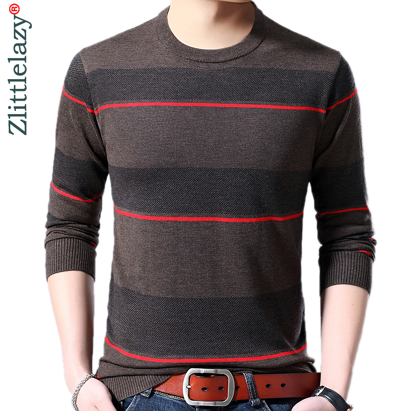 2019 Brand New Casual Thin Striped Knitted Pull Sweater Men Wear Jersey Dress Luxury Pullover Mens Sweaters Male Fashions 81002