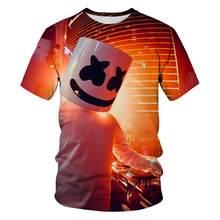 KIDS 2021 Fashion Candy Short Sleeve T-shirt New Trend 3DT Shirt Star Design Trend Fun DJ Cartoon T-shirt Horror Movie