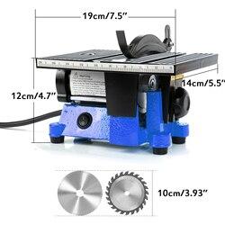 ANMAS domu 4-Cal stół z drewna piła Mini pilarek stołowych z 2 ostrza 60W 4500 obr/min maszyna do cięcia Hobby i rzemiosła elektronarzędzia