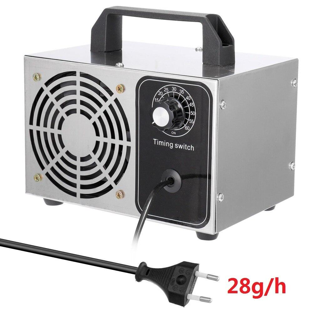 Portabl Ozone Generat O3 Generat Ozone Generator Ozonator ionizer O3 Timer Air Purifiers 220v 28g/24g/20g/10g /h