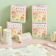 8packs/16pcs chestnut Re cieco scatola di serie carino fresco decorativo nastro di carta adesivo del nastro di washi(China)