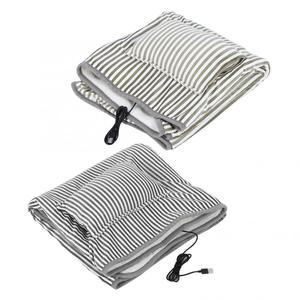 Electric Heated Blanket USB Blanket Plush Security Electric Blanket Thicker Electric Mat Body Warmer Heater Pad for Winter