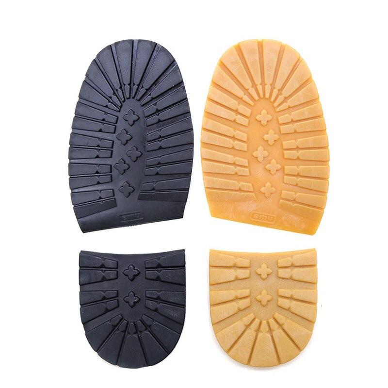 Suelas de zapatos de goma gruesas para hombres, zapatos de negocios de cuero, suelas de tacón antideslizantes para reparación DIY, suelas de repuesto negro amarillo Zapatos casuales de senderismo para hombre suelas al aire libre zapatos de senderismo suelas deportivas suela de tendón suela de camello marrón antideslizante