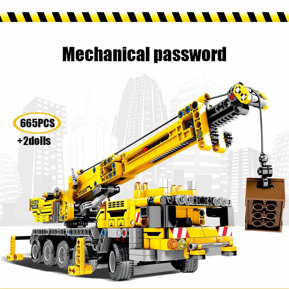 SEMBO BLOCK Città di Ingegneria Bulldozer Gru Technic Auto Camion Escavatore Rullo Costruzione di Blocchi di mattoni di Costruzione Giocattoli
