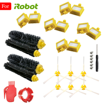 For iRobot Roomba Vacuum Cleaner Parts 700 720 750 760 765 770 772 774 775 776 780 782 785 786 790 Series Kit HEPA Filter Brush replacement filter and brush kit for irobot roomba 700 series 760 770 780 790 accessory kit include 12 filter 12 side brush 2