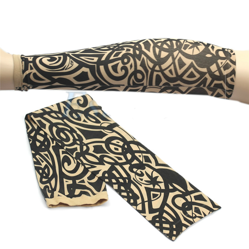 Coslony 2020 Men Women Summer UV Protection Winter Temporary Arm Sleeves Warmer Stockings Cover Slip On Fake Tattoo Accessories