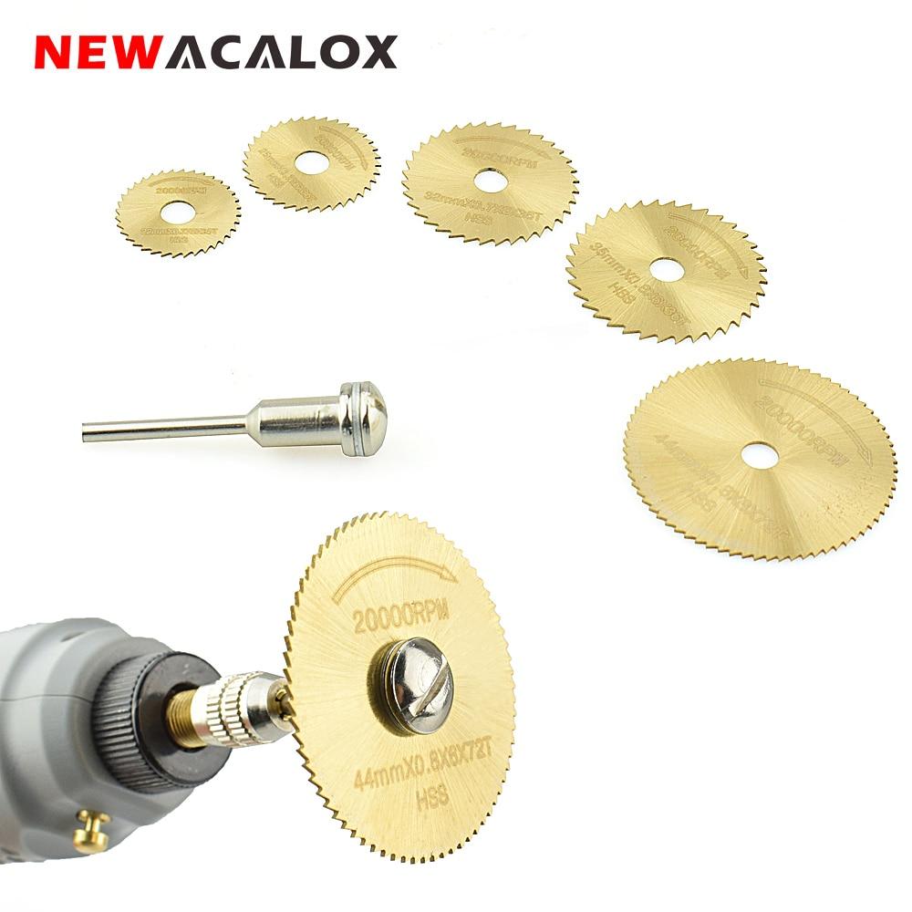 NEWACALOX travail du bois HSS outil rotatif scie circulaire ensemble de lames convient Dremel 1/8