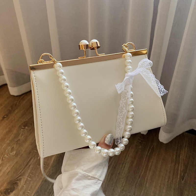 Lace Flower Print Shoulder Handbags Chain Women Drawstring Crossbody Bags #K