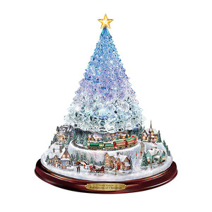 Christmas Tree Rotating Sculpture Train Decorations Paste Window Paste Stickers Festival 3D Wall Stickers Home Decor New Year