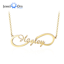 Personalized Custom Name Infinity Nameplate Necklaces for Women Fashion Copper Letter & Pendants Gift (NE103737)