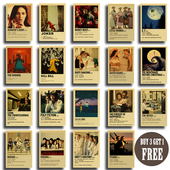 35 types of Classic Movie Posters Film Details Dirty Dancing Outer Banks Kill Bill Retro Poster Art Painting Room Bar Cafe Decor gringo movie poster posters