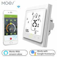 Smart WiFi Thermostat Temperatur Controller Wasser und Gas Kessel Arbeitet mit Alexa Echo Google Home Tuya