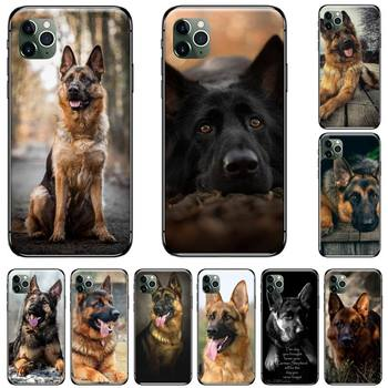 german shepherd dog Wolfhound animal Soft Rubber Phone Cover For iphone 5 5s 5c se 6 6s 7 8 plus x xs xr 11 pro max image