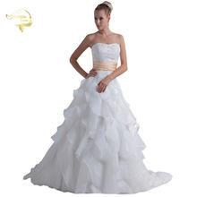 Жанна любовь модные бальные платья свадебные без бретелек бисер