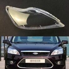 Ford Focus 2009 2010 2011 için araba far şeffaf Lens kabuk kapak otomatik şeffaf abajur far kabuk far kapağı