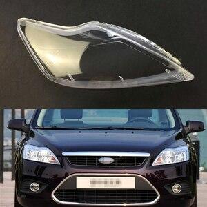 Image 1 - Ford Focus 2009 2010 2011 için araba far şeffaf Lens kabuk kapak otomatik şeffaf abajur far kabuk far kapağı
