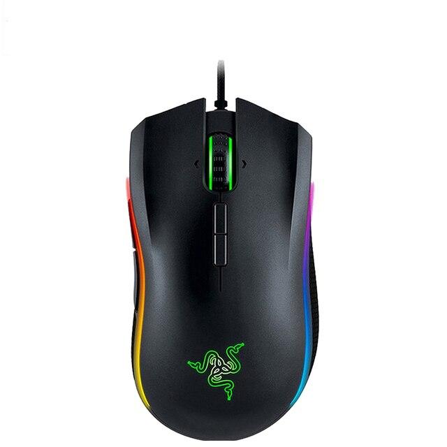 חדש Razer Mamba עלית Wired Gaming Mouse 16000 DPI 5G אופטי חיישן Chroma אור ארגונומי עכבר משחקים למחשב גיימר מחשב נייד