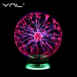 Новинка, волшебный плазменный шар, светильник, электрический светильник, Ночной светильник, 3, 4, 5, 6 дюймов, настольный светильник s Sphere, рожде...