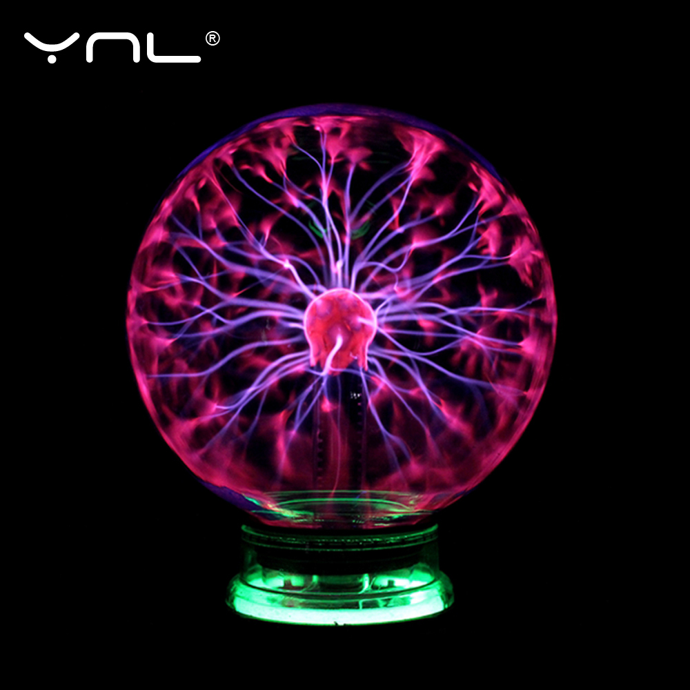 Novelty Magic Plasma Ball Light Electric Lamp Night Light 3 4 5 6 Inch Table Lights Sphere Christmas Kids Gift Glass Plasma Lamp
