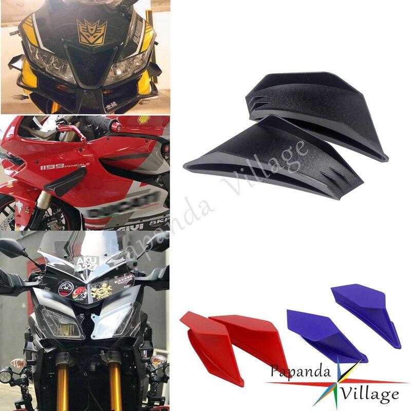 Supersport самокат аэро динамический Winglet Универсальный 2 шт обтекатель аэродинамический комплект крыла для Ducati Panigale V4/V4S Kawasaki Ninja