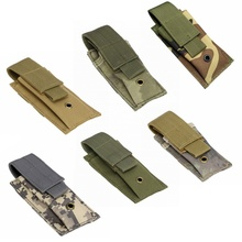 Airsoft Tactical Molle Single Pistol Magazine Pouch Military Accessories Hunting EDC Tools Knife Flashlight Holster Ammo Mag Bag 1000d molle men tactical admin magazine storage pouch pistol gun holster bag edc utility accessory pack mag map flashlight bag