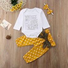 Новейшая модная одежда для новорожденных девочек комплект одежды