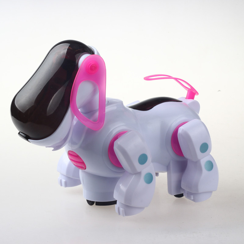 Electric Robot Dog Light Included Light Music Universal Wheel Will Shake Head And WAG Tail Children'S Educational Toy Supply Of