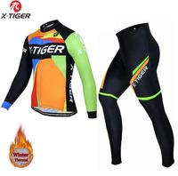 Men's Winter Pro Cycling jersey set Fleece cycling suits Maillot ciclismo Cycling clothing wool jersey sets tenue cycliste homme