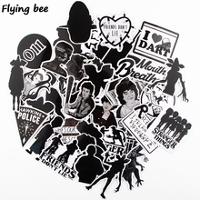 Flyingbee 42 Pcs Stranger things sticker black cool Graffiti Stickers Suitcase Laptop Kids Stationery Sticker Decoration X0348