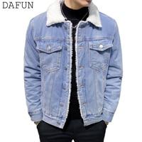 Men Denim Jacket Sherpa Lined Winter Jackets Coats Vintage Blue Black Jean Jacket Outerwear chaqueta hombre abrigo hombre 6XL