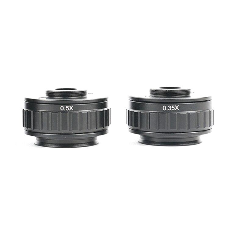 CTV 0.35X/0.5X fokus einstellbar C mount adapter 38MM Ring für Neue art von Trinocular Stereo mikroskop Set