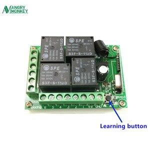 Image 4 - 433 433mhzのユニバーサルワイヤレスリモートコントロールスイッチDC12V 4CHリレー受信モジュールと4チャンネルrfリモート433の送信