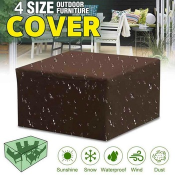Waterproof Outdoor Patio Garden Furniture Covers Rain Snow Chair covers for Sofa Table Chair Dust Proof Cover new image