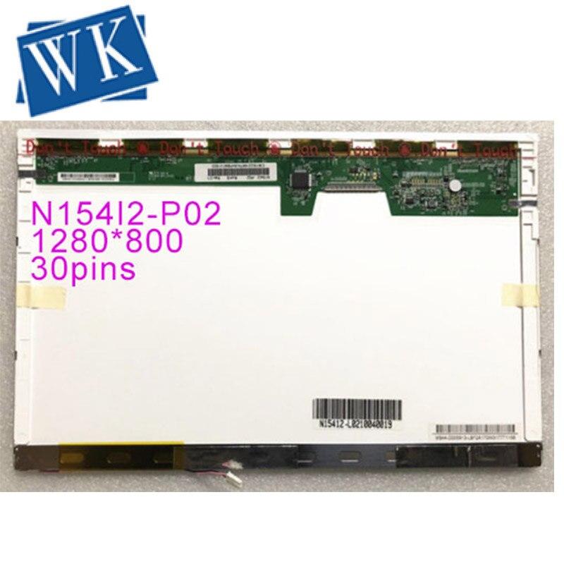 Livraison gratuite N154I2-P02 P01 N154I2 N154I2-L01 N154I1 N154I3 N154I5 B154EW02 V0 V1 LP154WX5 TLB4 Écran LCD 1280*800 EDP 30 broches