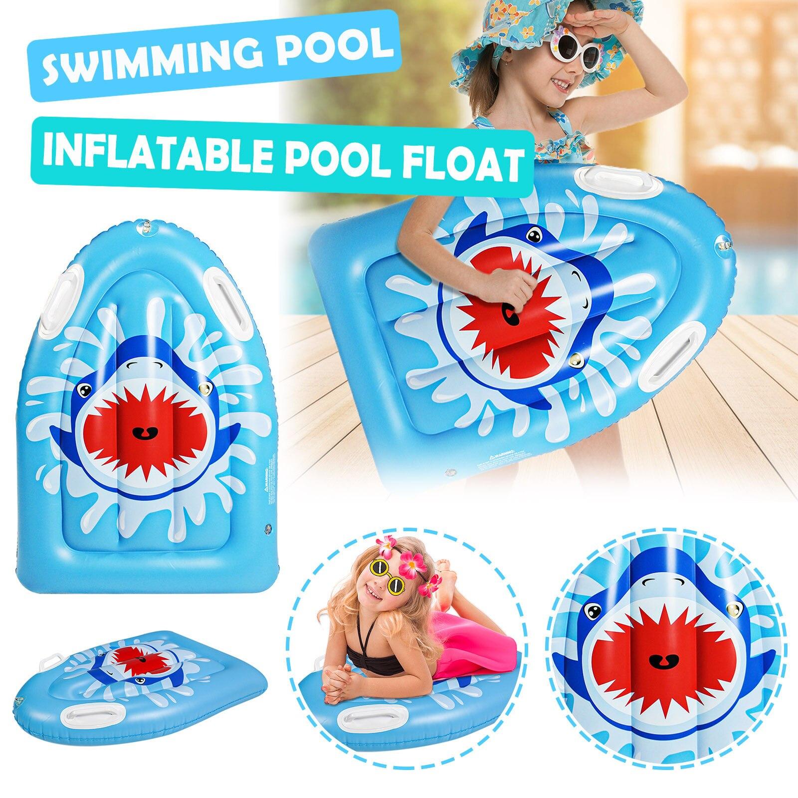 Children Inflatable Bodyboards Kids Lightweight Soft Surfboards Outdoor Swimming Pool Beach Floating Mat Float Kawaii Shark