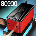 Power Bank 80000 mAh Tragbare Schnelle Lade Poverbank LED Handy Externe Batterie Ladegerät Power 80000 mAh für Xiaomi Mi