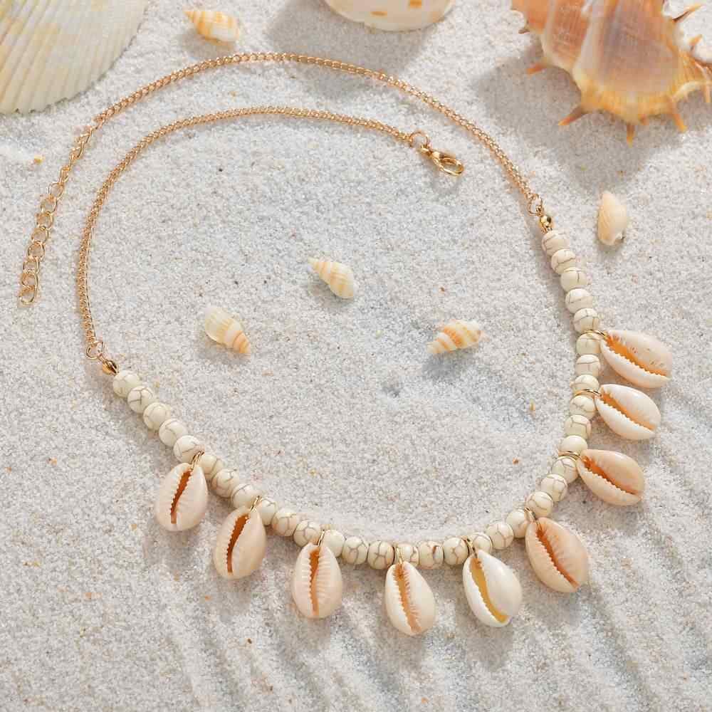 Böhmen Shell Erklärung Halskette Für Frauen Perlen Halsketten Weibliche Mode Boho Jewerly Afrika Stil Muschel Halskette
