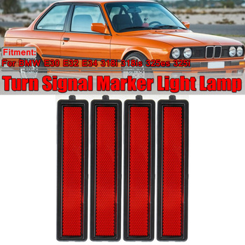 E34 Side Marker Light 318i 318is 325es 325i 3 Series Parts E32 Bumper Red Lamp Replacement image