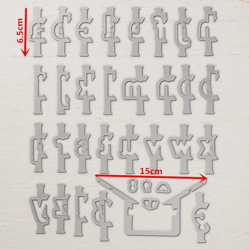 Купить алфавита металлический трафаретный вырубной штамп и марки скрапбукинга