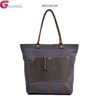 GALANODEL States Ms Europe and the United GALANODEL the new fashionable canvas with leather shoulder bag portable tote bags