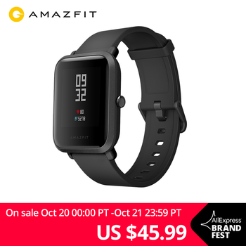 Amazfit Bip Smart Watch Bluetooth GPS Sport Heart Rate Monitor IP68 Waterproof Call Reminder Amazfit APP Notification Vibration